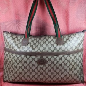 Authentic Gucci GG Monogram Large Tote